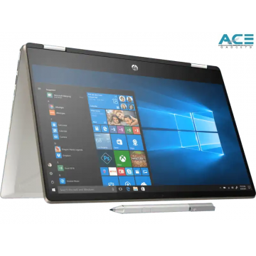 "HP Pavilion x360 14-dh1057TX Convertible Notebook (i7-10510U/4GB DDR4/512GB PCIe/MX250 2GB/14""FHDT/Win10+Ms Office H&S)"